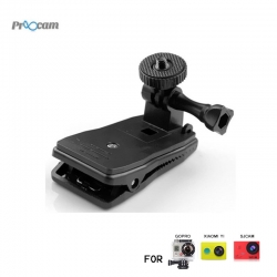 Proocam Pro-J200 Action Camera Clip Bag 360 degree rotatable Holder for Gopro and Mi yi camera ,SJ cam