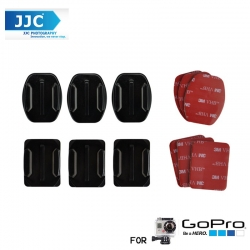 JJC GP-J2 Flat Adhesive Mounts X3 Curved Adhesive Mount For GoPro Hero 4/3+/3/2/1