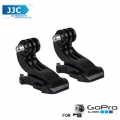 JJC GP-J4 2x Vertical surface J hook helmet vertically mount For GoPro Hero 4/3+/3/2/1