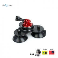 Proocam Pro-F081 Low Angle sucker suction cup for Gopro Hero , SJCAM , MIYI action camera