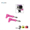 Proocam Pro-F106PK L-Like shape Thumb Screw with tale for Gopro Hero 4 3 2 1 (Rose Red)