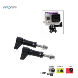 Proocam Pro-F106BK L-Like shape Thumb Screw with tale for Gopro Hero 4 3 2 1 (Black)