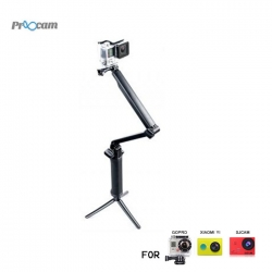 Proocam Pro-F117 3-way 3in1 Mount Monopord for Gopro Hero , SJCAM , MiYI action camera