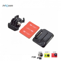 Proocam Pro-J013 Gopro Helmet Curved Surface & Mount for Gopro Hero 4,3,2,1 Action Camera