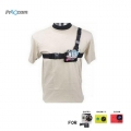 Proocam Pro-J085 Body Light Weight 3 Points Chest Belt For Gopro Hero , SJCAM, MI YI Action Camera