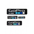 Proocam Pro-J150-BK Gopro Be a Hero design  Sticker set 4 size - Black  Colour