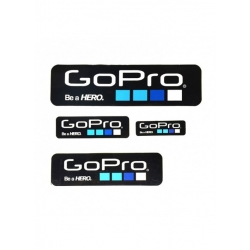 Proocam Pro-F014-BK Gopro Be a Hero design  Sticker set 4 size - Black  Colour
