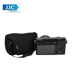 JJC OC-S1BK Neoprene Camera Case Mirrorless For Sony,Canon Camera Pouch Bag (Black)