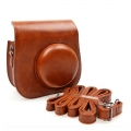 KEEP design for Fujifilm Instax Mini 8 Lens Pop Leather Case bag mini8 (Brown)