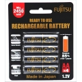 Fujitsu 2450Mah (2500mah ) Rechargeable Battery , Made in Japan ( HR-3uTHB )