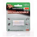 Fujitsu Rechargeable AAA Ready to use Battery 800mah (Min 750mah) 2pcs Pack HR-4UTAEX(2B)