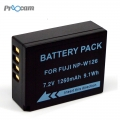 Proocam FJ NP-W126 rechargeable Battery for Fujifilm X-E1 , X-M1 , X-A1 , X-Pro2 , X-Pro1