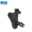 JJC HS-N Universal Camera Leather Wrist Hand Grip Strap with Holder for Canon Nikon SLR - Black