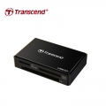 Transcend USB 3.0 Super Speed Multi-Card Reader for SD/SDHC/SDXC/MS/CF Cards (TS-RDF8K) - Black