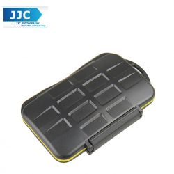 JJC MC-SDMSD24 Waterproof Sealed Memory Card Case Holder for 12 SD Memory ,12 Micro Sd Card