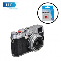 JJC SRB-B10R Convex Red Metal Soft Release Button for Leica Fujifilm Nikon Canon Sony Cameras