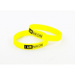 SILICONE RUBBER LENS BAND , FLASH BAND , WRIST BAND NIKON LOGO DESIGN
