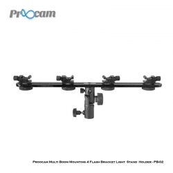 Proocam Multi Boom Mounting 4 Flash Bracket Light Stand Holder - PB-02