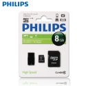 Philips 8GB Micro TF SD Memory Card Class 10 C10 with Adapter and Flashdrive
