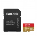 SanDisk 64Gb Extreme 16GB U3 Micro Case SDHC 4K Memory 90MB/s (Malaysia Warranty ) SDSQXNE-064G-GN6AA