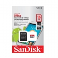 SanDisk 16Gb Ultra Class 10 Micro SDHC Memory Card up to 80MB/s with Adapter (Malaysia Warranty ) SDSQUNC-016G-GN6IN