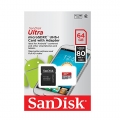 SanDisk 64Gb Ultra Class 10 Micro SDHC Memory Card up to 80MB/s with Adapter (Malaysia Warranty ) SDSQUNC-064G-GN6IN