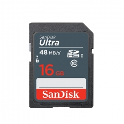 SanDisk 16Gb Ultra SDHC SD Memory Card 48MB/s speed (Malaysia Warranty) -SDSDUNB-016G-GN3IN