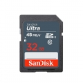 SanDisk 32Gb Ultra SDHC SD Memory Card 48MB/s speed (Malaysia Warranty) -SDSDUNB-032G-GN3IN