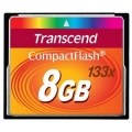 Transcend 8GB CF 133X Compact Flash Memory Card