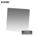 Zomei G ND4 Graduated Neutral Density Square Filter (Fit for Cokin Holder)