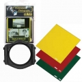 Cokin H220 Black & White Filter Kit P series (Filter Holder, Yellow #P001, Red #P003, and Green #P004