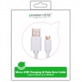 UGREEN 2.0A High Speed SYNC Micro USB cable 24k Gold-plated 2meter US125 10850- White