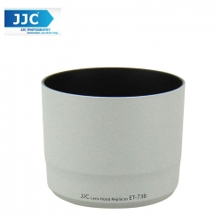 JJC LH-T73B(W) White Lens Hood for Canon EF 70-300mm f/4-5.6L IS USM Camera Lens ( ET-73B )