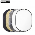 Photolite 80 X 120cm 5 in1 Light Reflector with Bag - Translucent, Silver, Gold, White