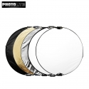 Photolite 110cm 5 in 1 Light Reflector with Bag - Translucent, Silver, Gold, White