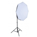 Prootech 95cm Octa Soft Box with Flash Holder and Light Stand (LS280) Set ( Bowen and Speedlight  Mount)