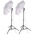 Prootech SE1 Studio Light Florescent Bulb - Umbrella Kit Set