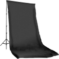 Prootech Plain Muslin Background Black (600X300cm)