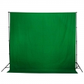 Prootech Plain Muslin Background Chroma Green   (600X 300cm )