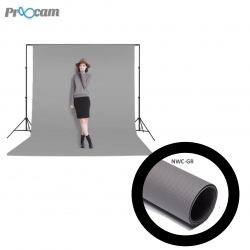 Proocam NWC-GR Non woven cloth Professioanl Backdrop background for Photographer -Grey (3X6meter)