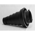 Snoot (98mm×260mm) with Honeycomb for Studio Strobe(Universal Bowen Mount)
