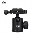 KIWIFOTOS KWBH-3 Professional Ball Head With Quick Release Plate for Tripod (Max 5kg)