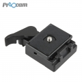 Proocam QLP-1 Quick release plate with Base for tripod Camera (Competitble for Manfrotto 200L)