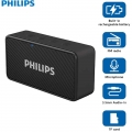 Philips BT64B Portable Bluetooth Speakers with FM radio (Black) Connect with Smartphone Laptop