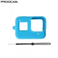 Proocam Pro-J264-BL Silicone Case for the Camera Mainbody of Gopro Hero 8 (Blue)