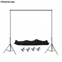 Proocam BG200 Heavy duty Backdrop Background Stand support Kit Set with Bag ( 2 X 2meter )