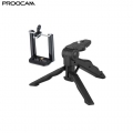 Proocam HM-10 Handle Mobile Tripod Mini Hand Grip Bar with Cell Phone Clip Holder