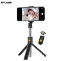 Proocam K07 2in1 Selfie Stick Foldable Monopod, Tripod with Bluetooth for Smartphone-Black
