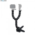 Proocam PRO-F224 Double Arm Neck Mount Adjustable Flex Clamp Clip for Gopro Hero