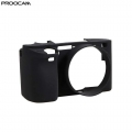 Proocam Silicone Case Cover Protective Skin for Sony A6300 - Black